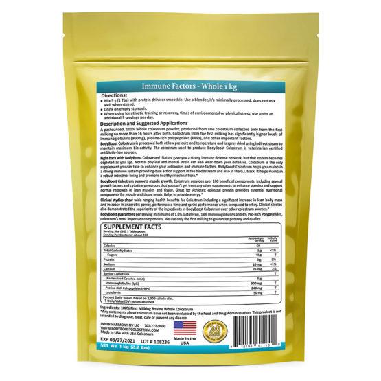 Whole Bovine Colostrum Supplement