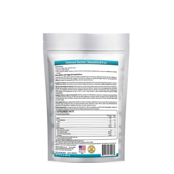 Bovine Colostrum Instantized